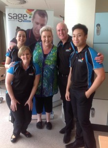 meshel laurie with Sage Massage angels